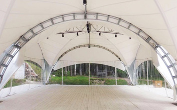 Arched marquees: Dune, Hexagonal.