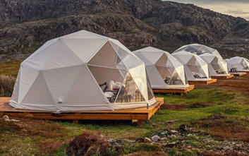Glamping marquees